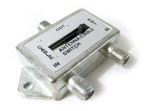suiche interruptor tv selector metalico cable coaxial nb2540