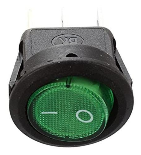 suiche redondo con luz piloto verde para cafetera 110v