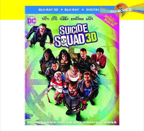 suicide squad blu-ray 3d + blu-ray original!