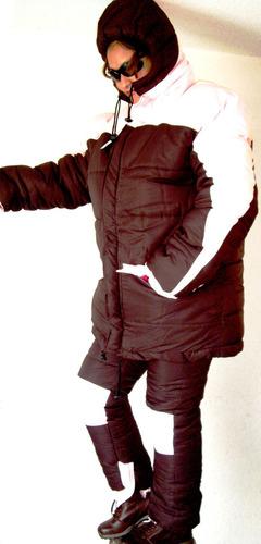 suit chamarra y pantalon polar termico hielo nieve bajo cero