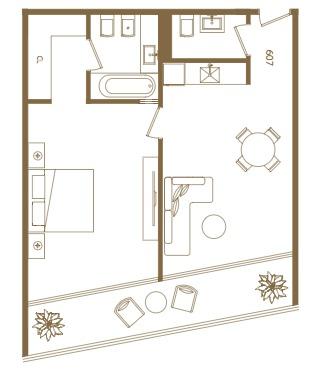 suite de 2 ambientes en sls puerto madero