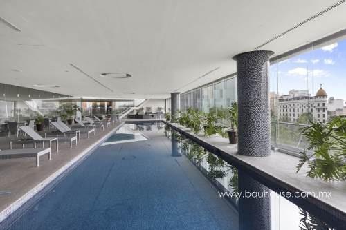 suite totalmente amueblada en venta en plaza residences, col. tabacalera