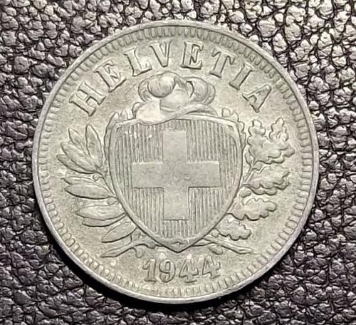 suiza 1944 - 2 rappen zinc