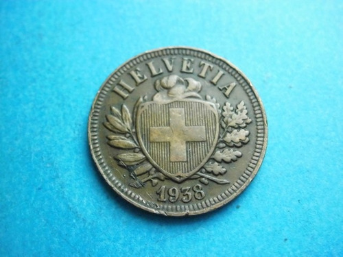 suiza 2 rapen 1938 bronce