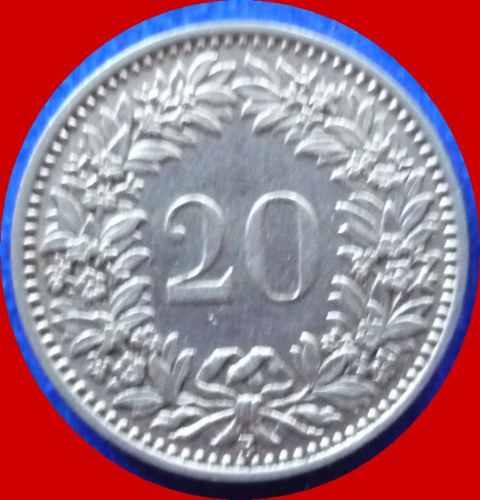 suiza - 20 rappen 1933 estado sin circular