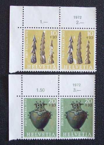 suiza - lote 3 series pro patria 1972 nsg l0313
