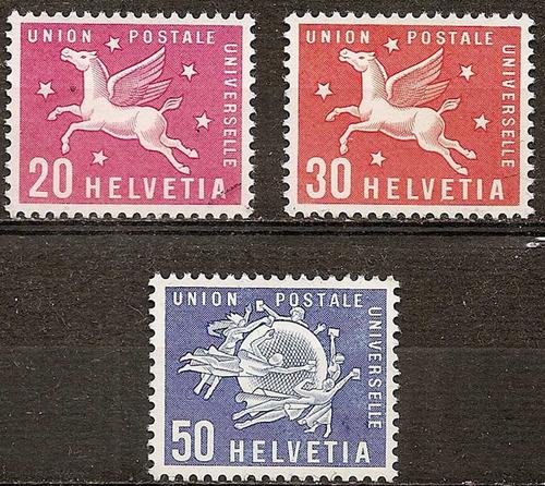 suiza serie año1960 yvert ts n°417/9 nueva sin goma 3v
