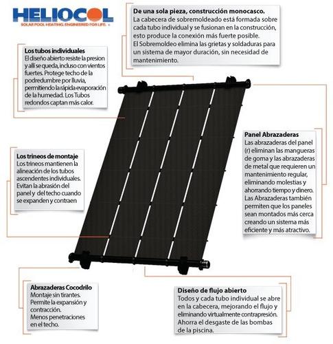 sujeción colectores heliocol abrazadera climatizacion pileta