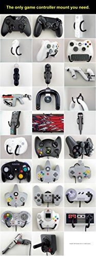 sujeción de pared - xbox, playstation, wii, y retro control
