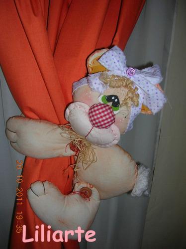 sujeta cortinas ositos, decoración infantil