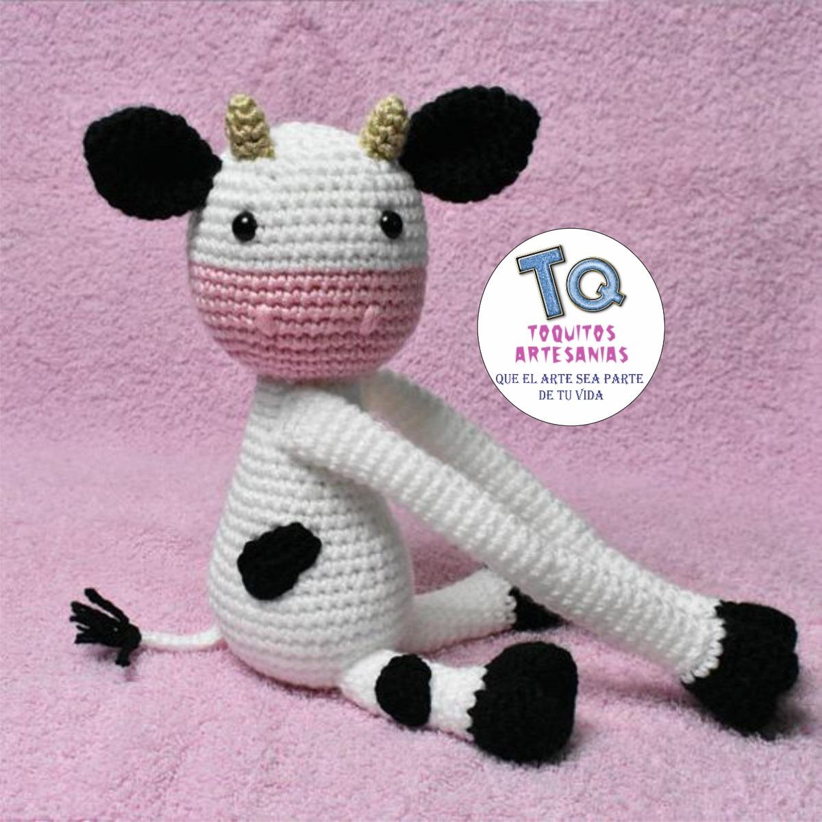 Con hilos, lanas y botones: La vaca Lola | 1200x1200