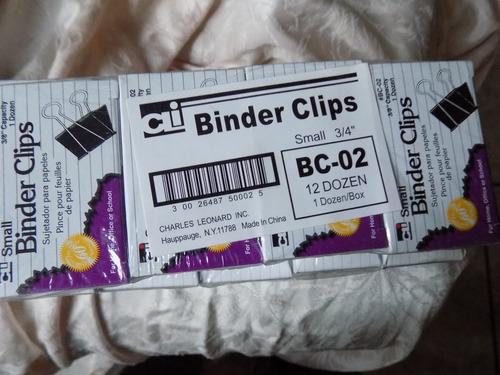 sujeta documentos clip tipo pinza caja /12 piezas