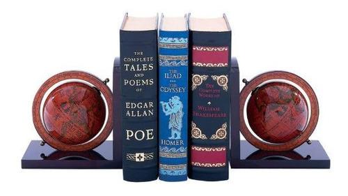 sujeta libros globo terraqueo antiguo (nuevo)