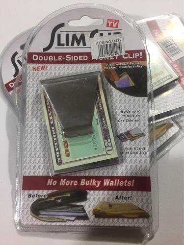 sujetador de billetes y tarjetas credito