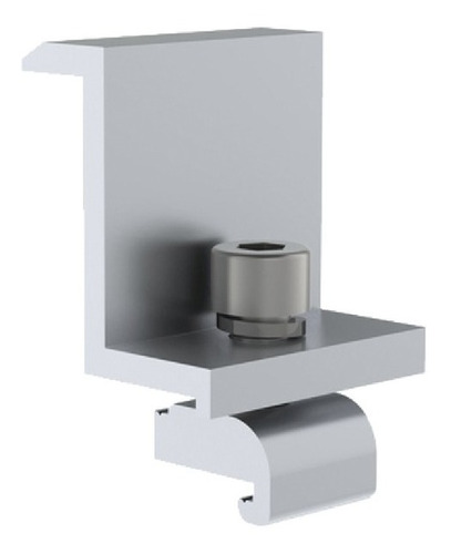 sujetador final 40 mm para montaje de modulos fv en riel7