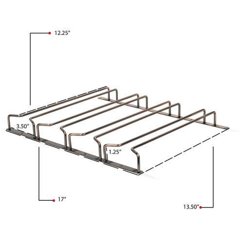 sujetador organizador de mueble hasta 12 copas 4 canales lp