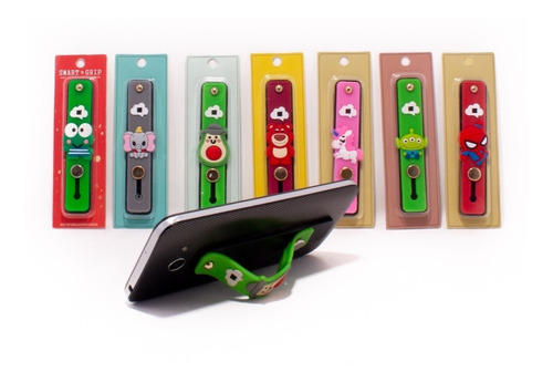 sujetador socket para celular 3d tira soporte