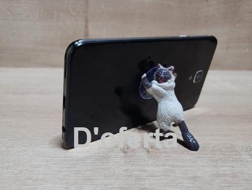 sujetador soporte celular smartphone tablet gato pack x 4und