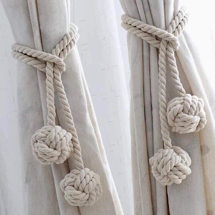 Sujetadores para cortinas agarraderas cotton decoraci n - Decoracion en cortinas ...