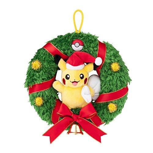 sujetos,pikachu navidad de la felpa de la guirnalda de p..