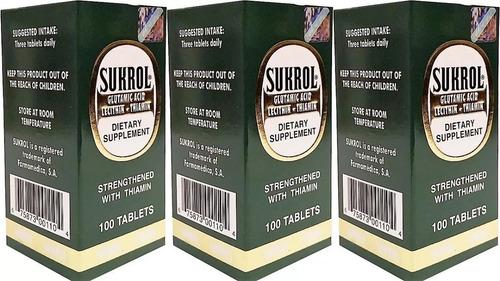 sukrol vitaminas para el cerebro y nervios 100 tabs pack x3