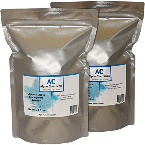 sulfato de cobre pentahidratado - 25.2% cu - 10 libras -