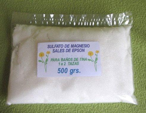 sulfato de magnesio para baños de tina 3 kg sales de epson