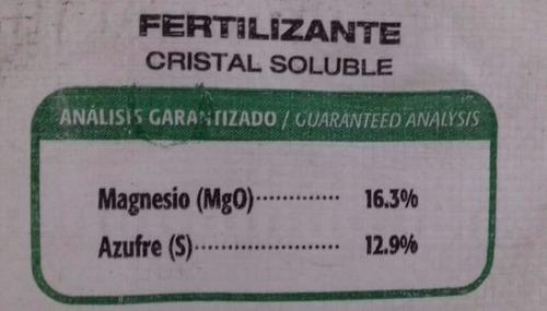 sulfato de magnesio sal epson uso agricola  fertilizante