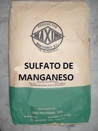 sulfato de manganeso mn 25kg fertilizante soluble