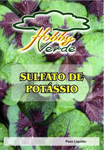 sulfato de potássio adubo solúvel hidroponia foliar - 1 kg