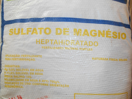 sulfato magnésio , sal amargo ,adubo foliar, hidroponia 2kg