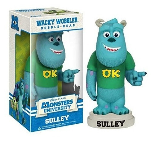 sulley, monsters university, pixar. funko wacky wobbler