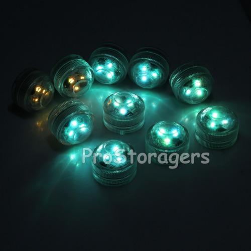 sumergible led luces control remoto control 10pcs rgb