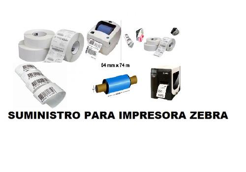 suministro para impresoras zebra,cinta de cera,resina,termo