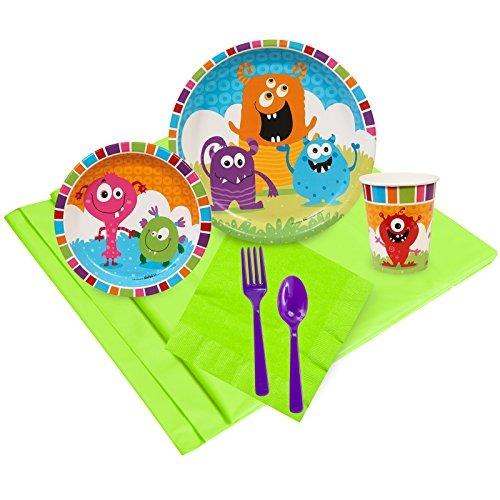 suministros de fiesta de cumpleaños de monstruos para niñ