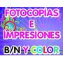Impresiones Blanco Y Negro, Fotocopias, A Partir De 100