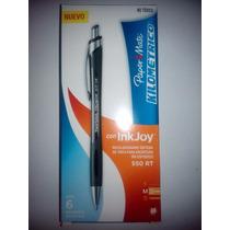 Boligrafo Kilometrico Papermate Inkjoy Rt 550 Azul Y Negro