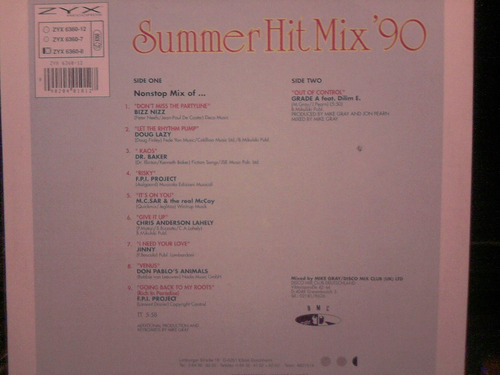 summer hit mix 90 vinilo aleman