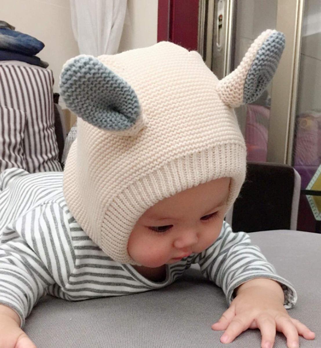 be5cc6fbea032 Sumolux Kids Warm Hood Gorros Sombrero De Punto Orejas De ...