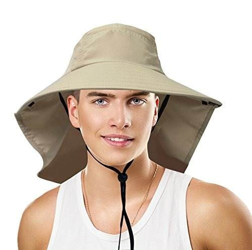 sun bloqueador unisex grandes bill flap sombrero de sol camp