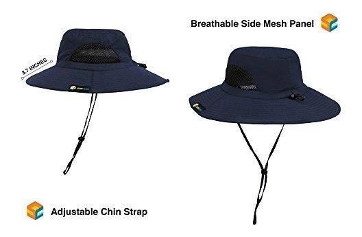 ba747a98b Sun Cube Premium Boonie Sombrero De Ala Ancha Ajustable Para