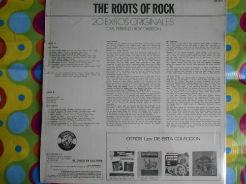 sun the roots of rock lp carl perkins, roy orbison