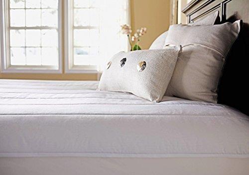 sunbeam cojín de colchón térmico de poliéster acolchado con