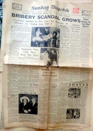 sunday dispatch - london jan 16 1949 8p aceptable estado rot