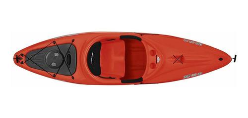 sundolphin fiji 10 ss sit-in recreational kayak - rojo