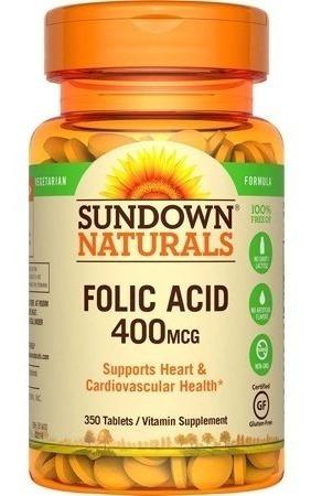 sundown naturals ácido fólico 350tb a_11 vrd ccs y valencia