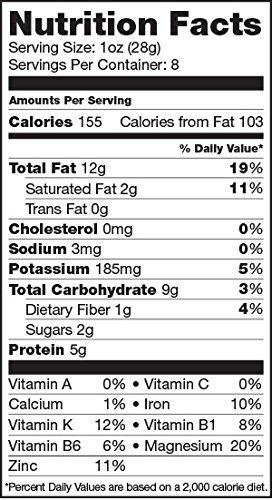 sunfood anacardos, enteros, 8 oz, orgánicos, crudos