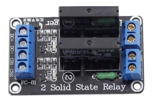 sunfounder 5v 2 canales relé estado sólido placa para arduin