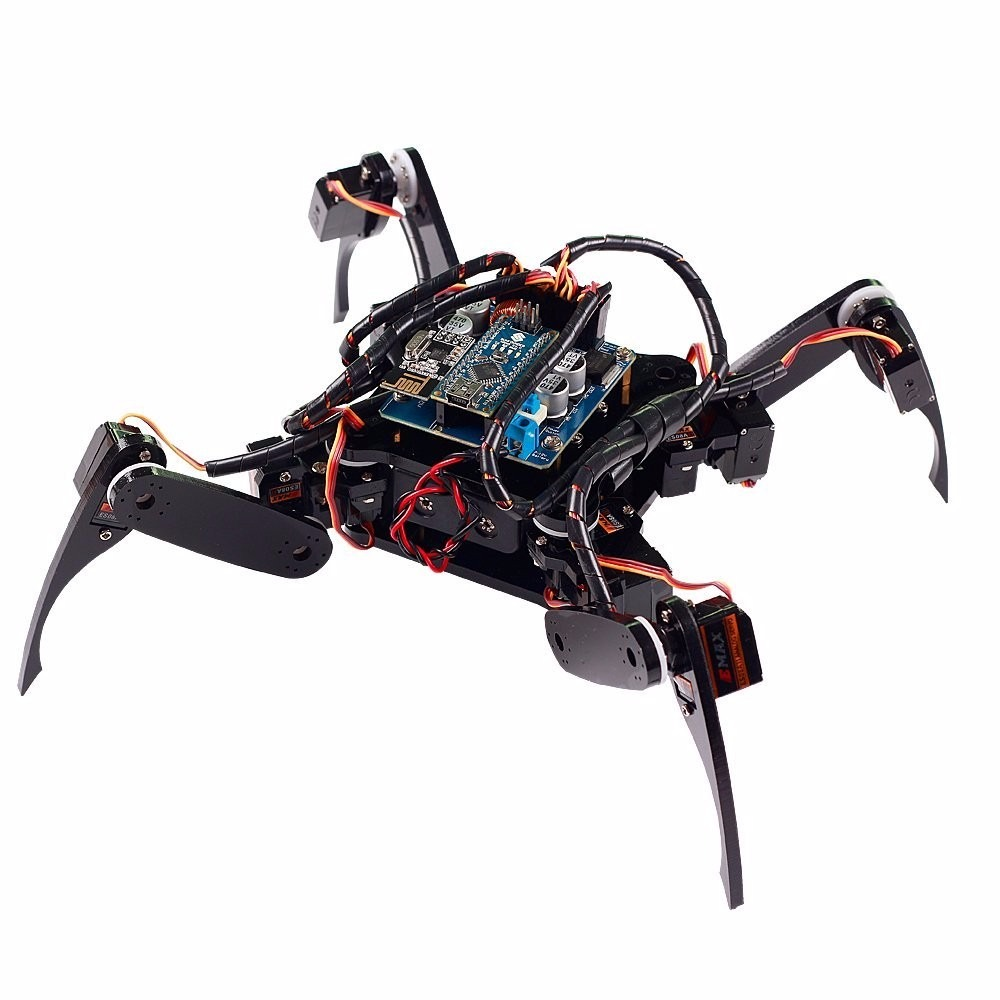 Sunfounder crawling quadruped robot diy kit for arduino