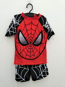 afefd7f98 Sunga Camisa Touca Infantil Super Heroi Homem Alanha Vmpt